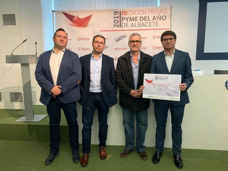 """Instalaciones Bueno Arenas recibe el premio """"Pyme del año 2019"""" de Albacete"""